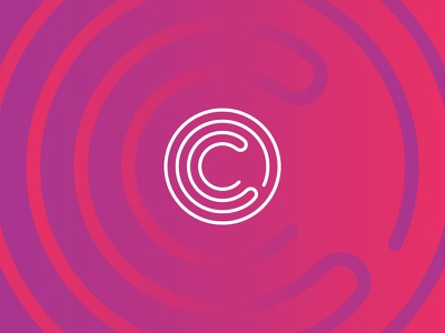 Unused Branding Concept for Community Fibre community fibre brand logo gradient line purple design branding