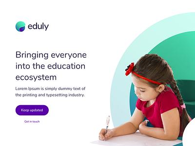 Eduly - Landing Page emerald green blue purple branding brand education eduly landing page