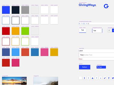 GivingWays - Design system sketch system givingways design system