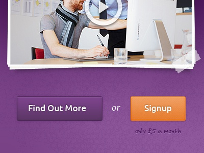 Call to Action call to action buttons web design landing page video signup tape
