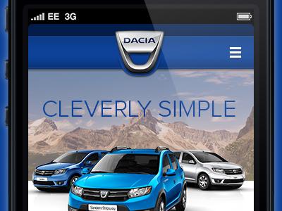 Dacia landing mobile