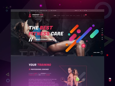 Perfect Gym Landing Page