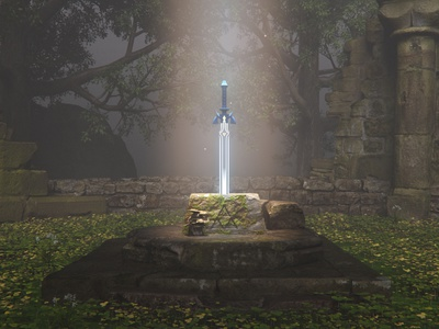 The past of the sword quixel moi3d photoshop game environment aftereffects speedtree nintendo zelda clarisseifx houdini