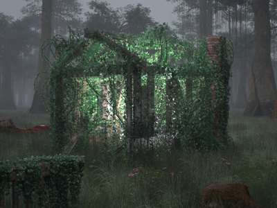 The light of the ruins vegetation forest aftereffects ruins nature environment quixel clarisseifx speedtree houdini