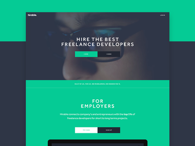 Hirable - Landing Page landing page home page responsive web app sass