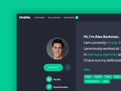 Hirable - Profile