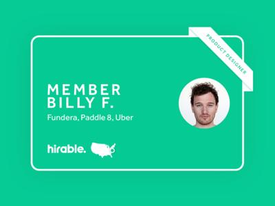 Hirable - Digital Member Card