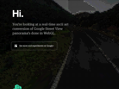 ascii Google Street View panel homepage teehanlax redesign ascii