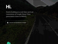 ascii Google Street View panel