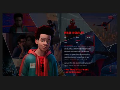 Miles morales detail character page