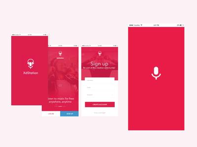 App Login/Sign design