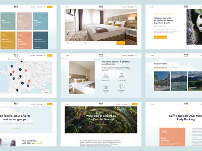ACE Hôtel ux hotel hotel booking branding graphic design booking web layout clean website web design ui