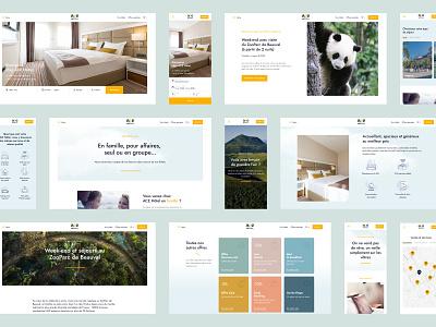 ace hotel - ui web clean mobile design mobile ui booking hotel booking hotel graphic design website ux layout web design ui