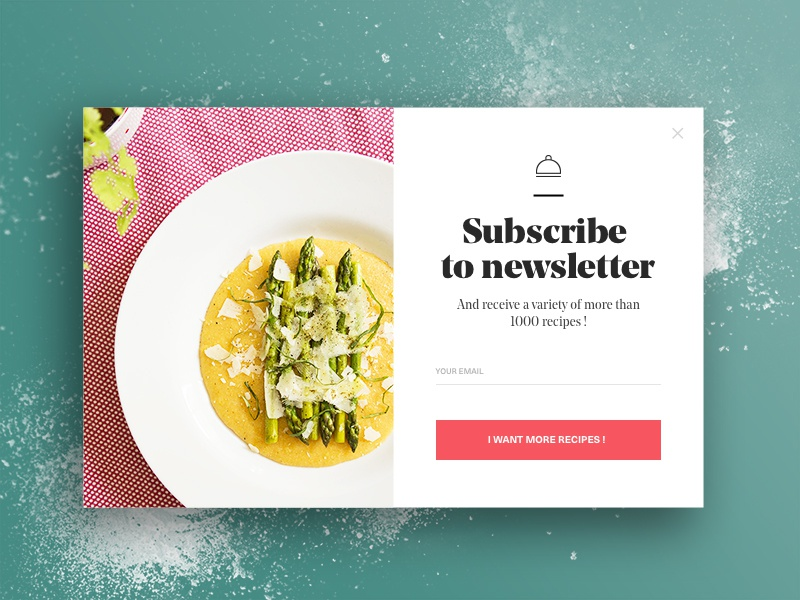 Subscribe newsletter food by julien pianetti dribbble forumfinder