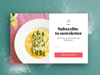 Subscribe newsletter food by julien pianetti dribbble subscribe newsletter food forumfinder Gallery