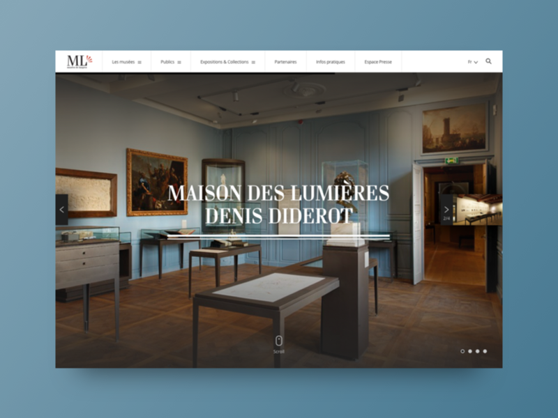 museum langres home page 2014 by julien pianetti dribbble. Black Bedroom Furniture Sets. Home Design Ideas
