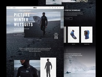 Picture Winter Wetsuits - Landing Page