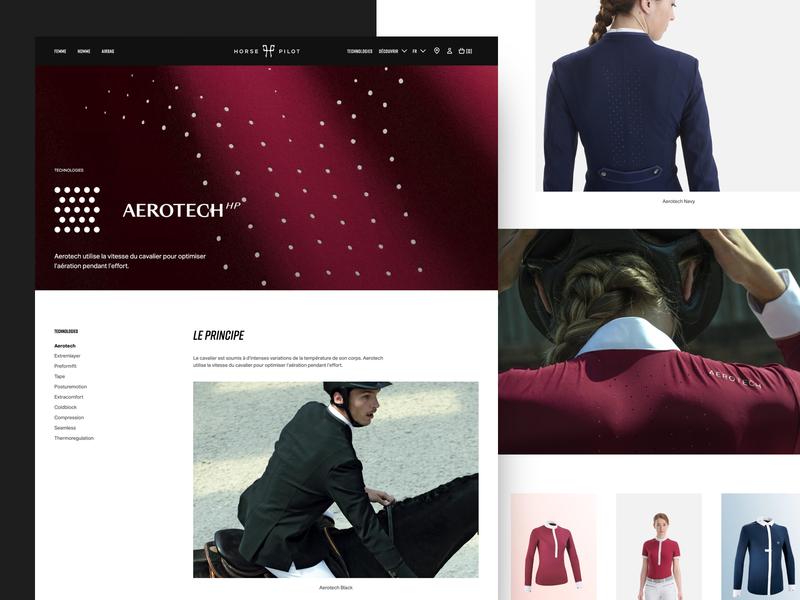Hp Technology technology horse riding sport clean graphic design web website layout web design ux ui