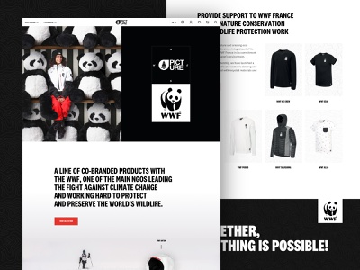 Picture WWF Line 2020 branding clothing line picture organic clothing wwf outdoor e-commerce landing page design graphic design web website layout web design ux ui