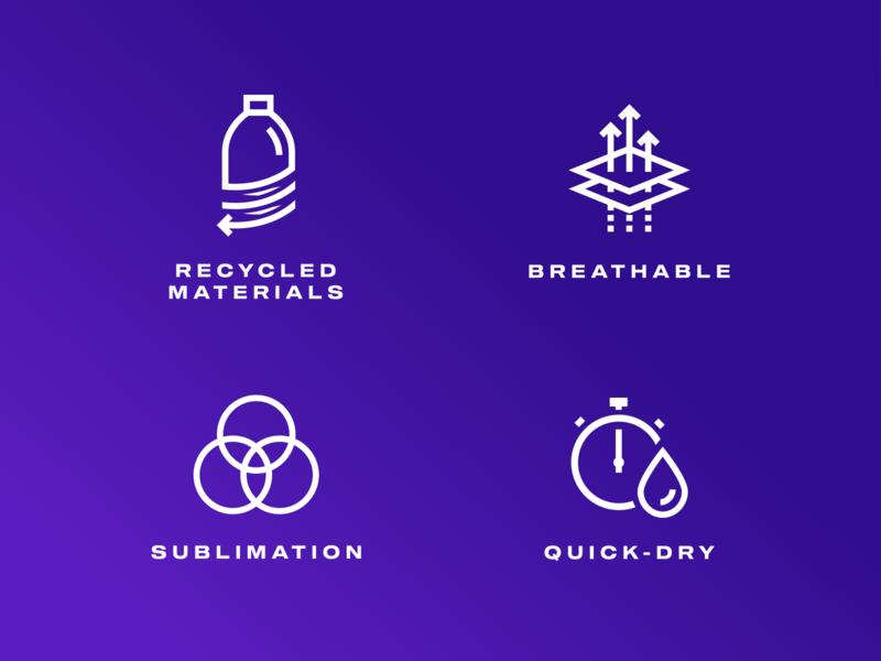 Qetzal iconography badminton sport technology textile design icons icon design iconography branding vector logo illustration graphic design