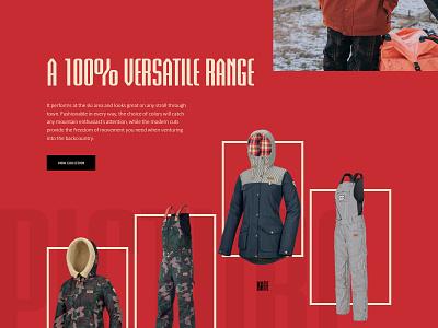 Picture Adventure Line 2020 landing collection outdoor fashion page clean landing page design graphic design web website layout web design ui