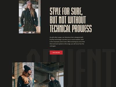 Picture Adventure Line 2020 landing branding outdoor fashion page clean landing page design graphic design web website layout web design ui