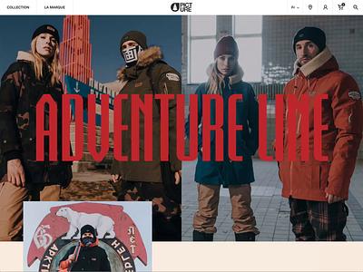 Picture Adventure 2020 ecommerce line collection fashion e-commerce clean landing page design graphic design web website layout web design ui