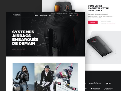 in&motion - homepage e-commerce technology hightech home homepage clean graphic design website ux layout web design ui