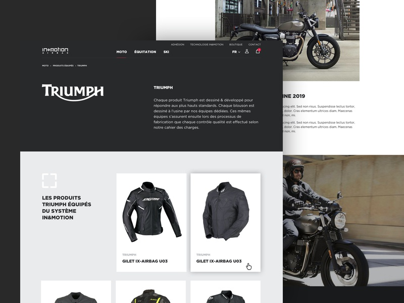 in motion - Partner Page airbag hightech technology e-commerce clean graphic design website ux layout web design ui