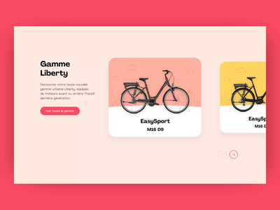 easybike - listing animation color web ux transition animation listing page bicycle e-commerce graphic design website layout web design ui