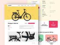 Easybike Product Page product product page color bicycle e-commerce branding web graphic design website layout web design ux ui
