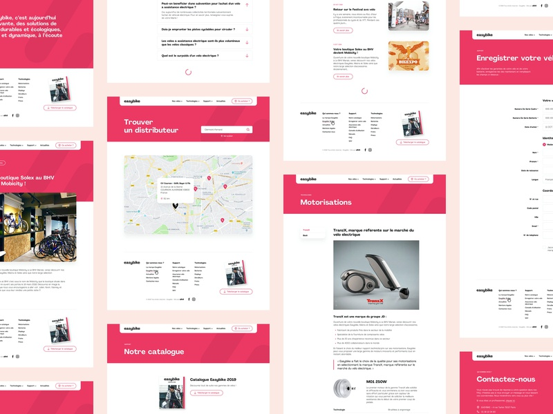 Easybike Basic Pages form basic web page clean landing page branding contact layout web design website ux ui