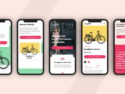 Easybike Mobile product page page bicycle mobile mobile ui clean e-commerce website graphic design ux layout web design ui