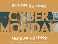 Abstruse 50% off Cyber Monday sale
