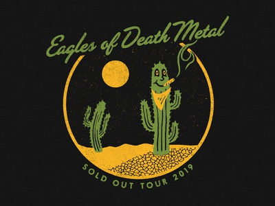 Eagles of Death Metal desert weed merchandise joint illustration graphic design character cactus apparel