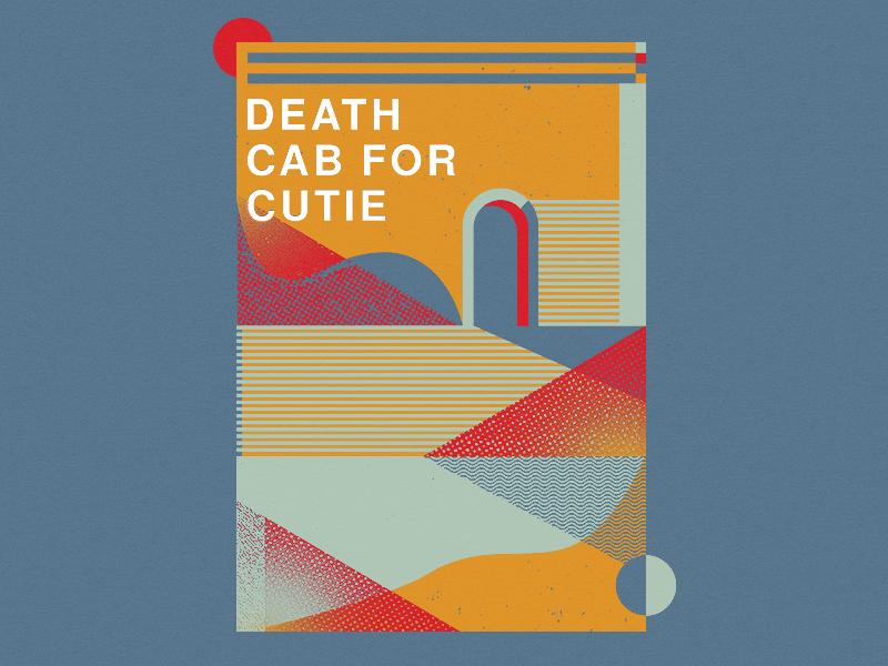 Death Cab For Cutie - Textured Shapes graphic screenprint lines illustration geometric retro merch apparel minimal simple shapes texture design