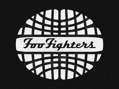 Foo Fighters - Globe Logo graphic logo type retro foo fighters globes texture apparel merch globe design