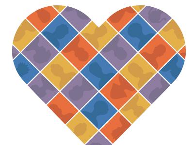 Devide Your Heart Vector Illustration