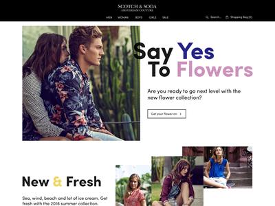 Scotch & Soda Website Concept concept website soda and scotch