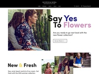 Scotch & Soda Website Concept