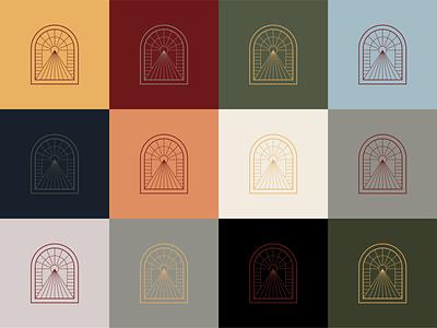 Archlight light sun arch design brand icon mark branding logo