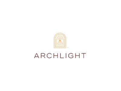 Archlight typography vector light architecture arch brand icon mark branding logo