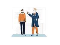 Doctor + Patient vector illustraion patient doctor