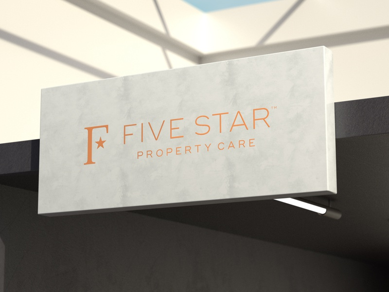 Five Star realestate architecture building care property five star f design icon mark branding logo