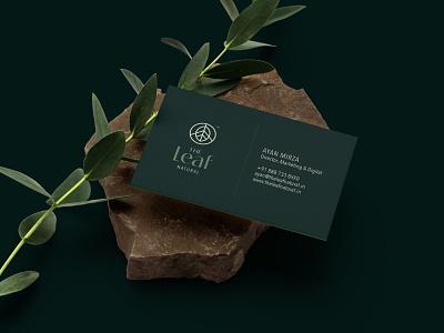 The Leaf Natural cosmetics natural leaf design brand icon mark branding logo