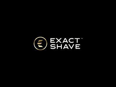 Exact Shave blade razor grooming men exact shave design brand icon mark branding logo