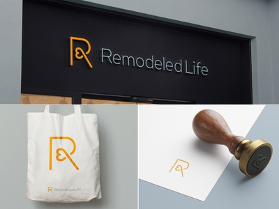 Remodeled Life therapy doctor heart life remodel r brand icon mark branding logo