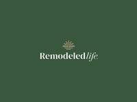 Remodeled Life water sun life remodel design brand icon mark branding logo