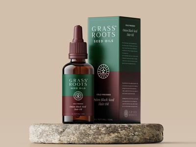 Grass Roots graphic design packaging seed natural oil roots grass illustration design brand icon mark branding logo