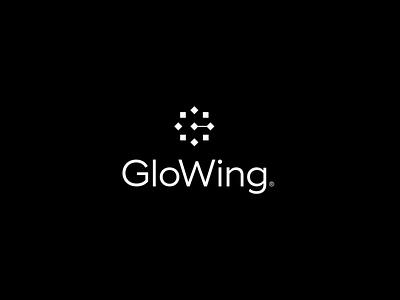 GloWing light laptop g glowing wing glow design brand icon mark branding logo